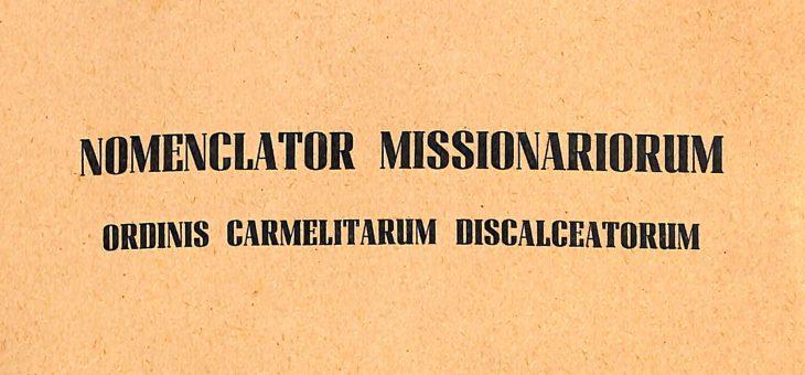 NOMENCLATOR MISSIONARIORUM