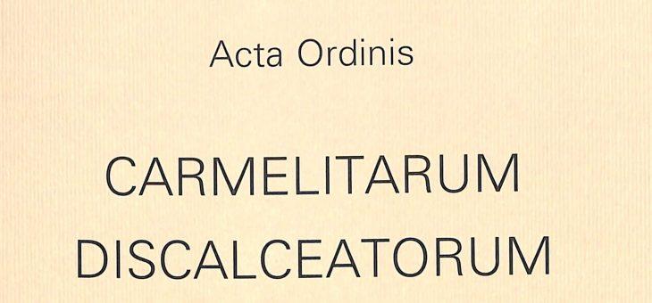 Acta Ordinis 1956-1995